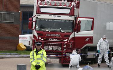 Kamion u kojem su nađena tijela