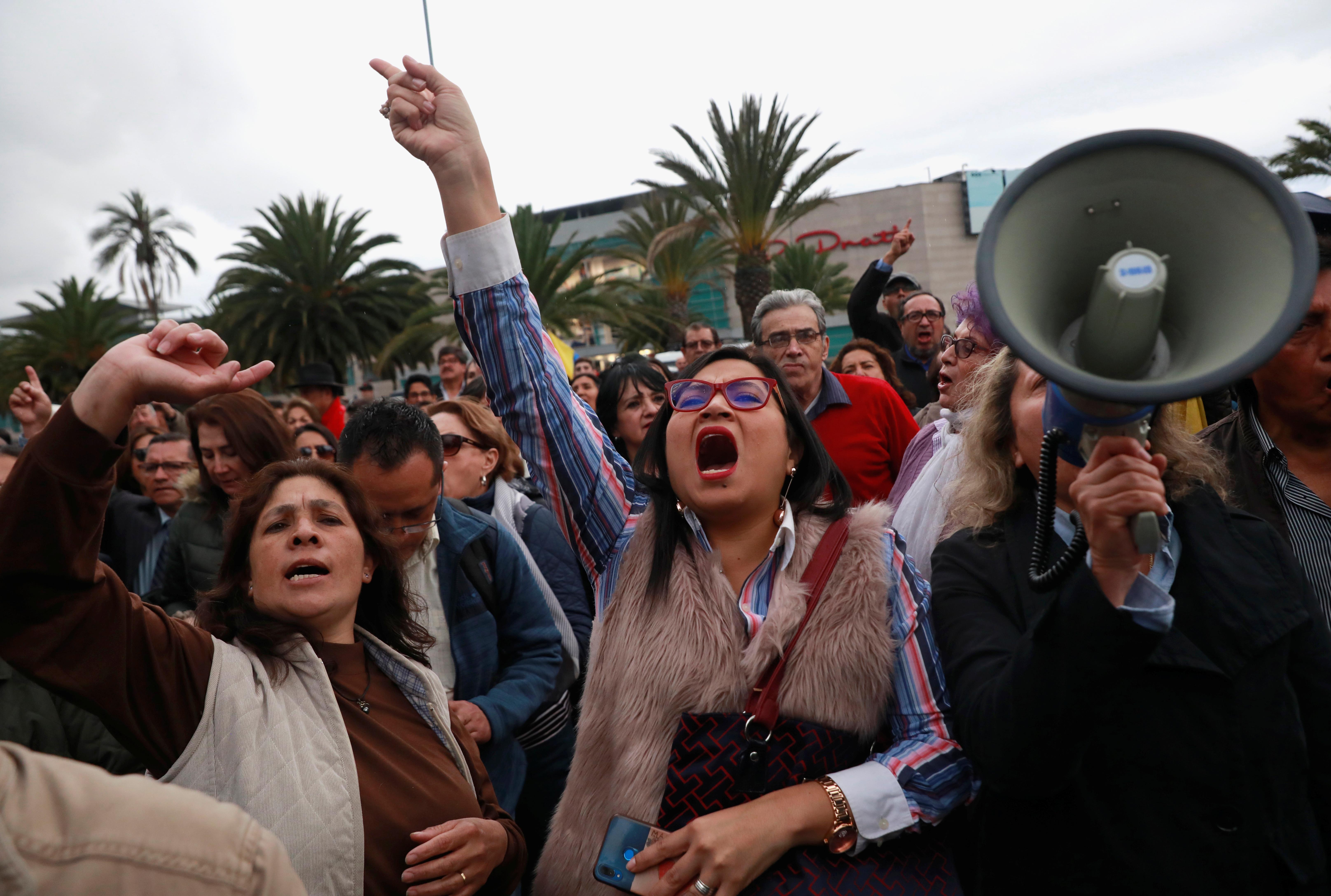 Ekvador, protest