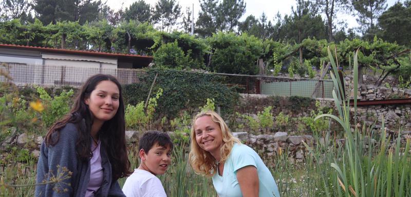 Sanja Prelević sa porodicom tokom camina