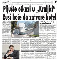 """Strana """"Vijesti"""" od 1. novembra 2009."""