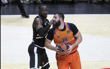 Bojan Dubljević na meču sa Asvelom