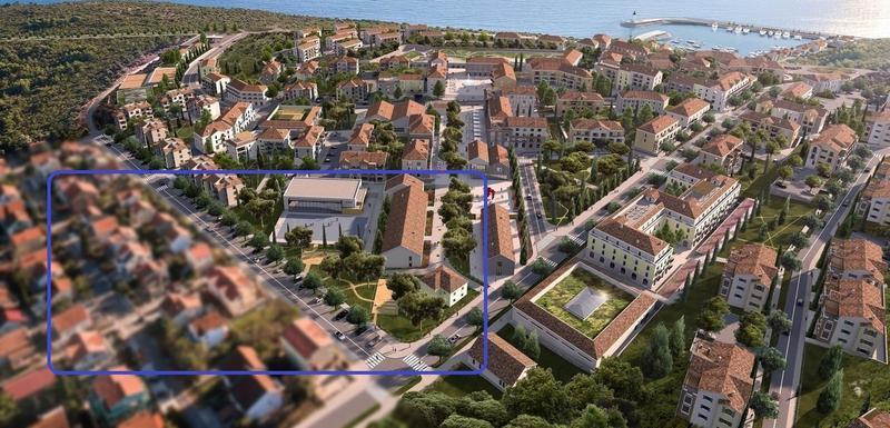 nimacija budućeg izgleda naselja sa novom ulicom