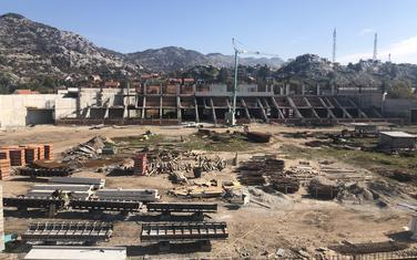 """Gradilište stadiona """"Sveti Petar Cetinjski"""" u izgradnji"""