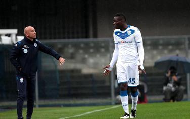 Baloteli i trener Korini