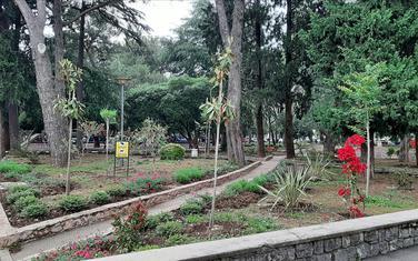 Novouređeni dio jednog od parkova u Tivtu