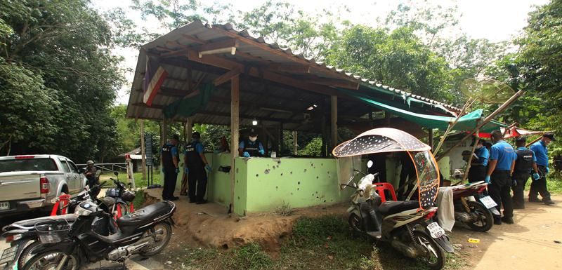 Forenzičari na mjestu gdje se napad dogodio u provnciji Jala