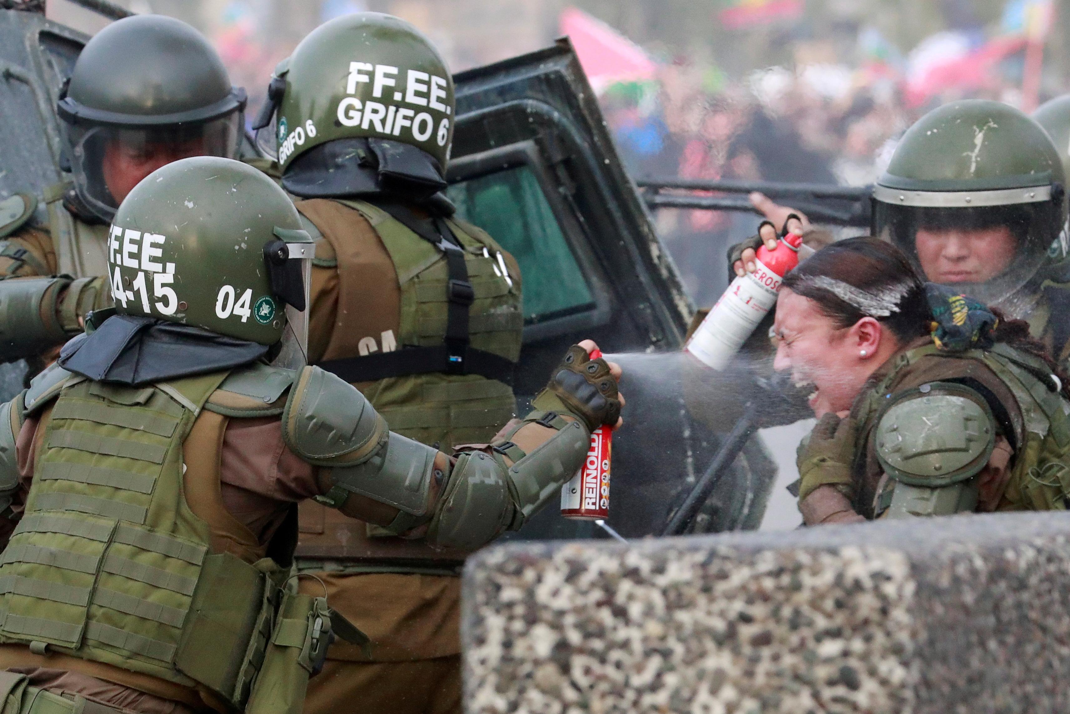 Čile, protest