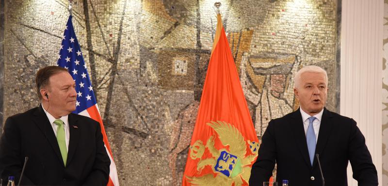 Majk Pompeo i premijer Crne Gore Duško Marković
