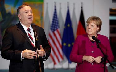 Pompeo i njemačka kancelarka Angela Merkel