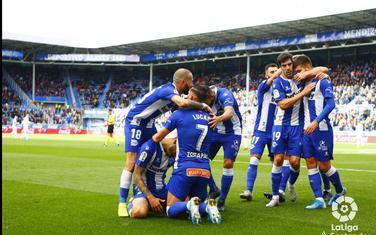 Slavlje igrača Alaves nakon jednog od golova