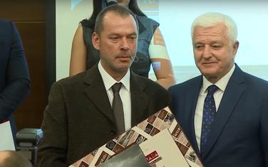"""Slobodan Čukić i Duško Marković na dodjeli Godišnje nagrade časopisa """"Komuna"""" za 2019. godinu"""