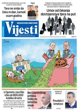 """Naslovna strana """"Vijesti"""" za 10. novembar 2019."""