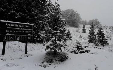Snijeg na Velebitu