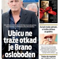 """Naslovna strana """"Vijesti"""" za 11. novembar"""