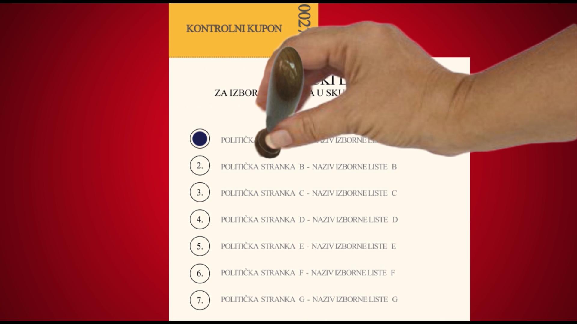 Novi glasački listić