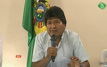 Morales je u televizijskom uključenju objavio ostavku