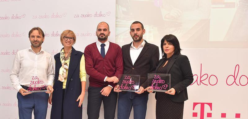 Sa svečanosti povodom zvaničnog proglašenja pobjednika Telekomovog konkursa Za svako dobro za 2019. godinu.