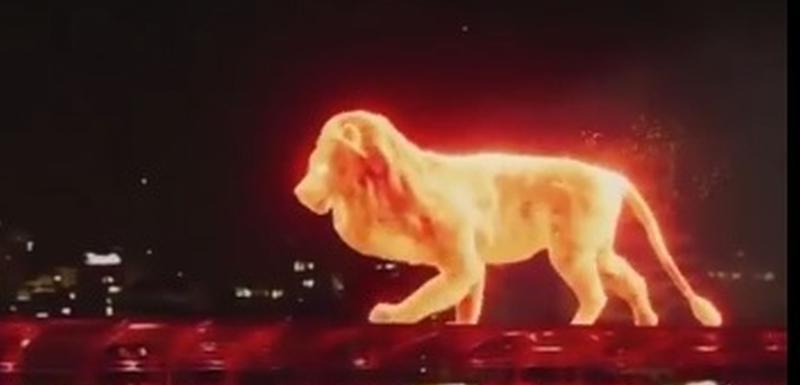 Vatreni lav šeta po stadionu