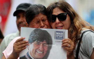 Moralesove pristalice nakon što je podnio ostavku
