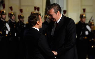 Makron i Vučić sinoć u Parizu