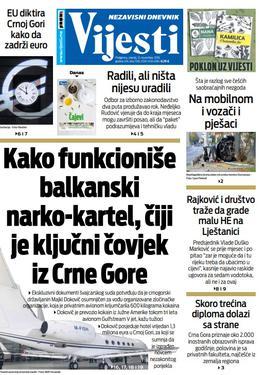 """Naslovna strana """"Vijesti"""" za 13. novembar 2019."""
