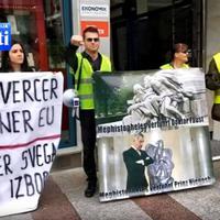 Stijepović na jednom od protestnih okupljanja