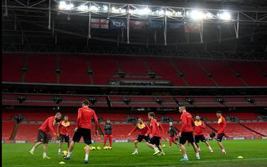 Trening fudbalera Crne Gore na Vembliju