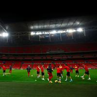 Crnogorski fudbaleri na Vembliju