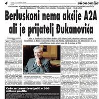 """Stranica """"Vijesti"""" od 14. novembra 2009."""