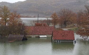 Detalj iz naselja Broćanac tokom poplava