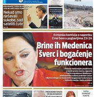 """Naslovna strana """"Vijesti"""" za 15. novembar"""