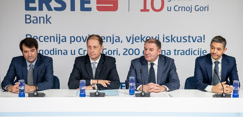Deset godina u Crnoj Gori: Erste banka