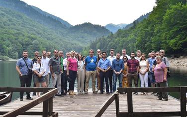 Predstavnici URE na Biogradskom jezeru