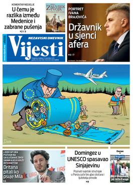"""Naslovna strana """"Vijesti"""" za 17. novembar"""