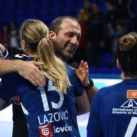 Dragan Adžić i Barbara Lazović nakon utakmice sa Bitighajmom
