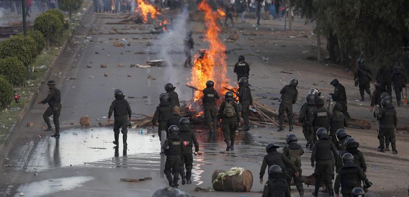 Sa protesta u Boliviji