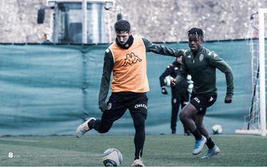 Jovetić na treningu