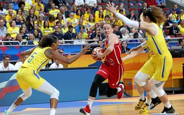 Jelena Vučetić na meču sa Švedskom