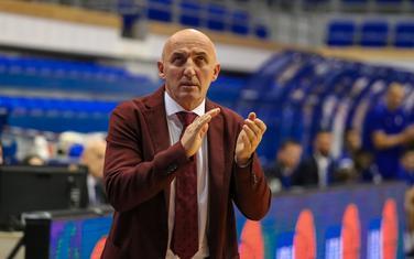 Mihailo Pavićević na večerašnjoj utakmici