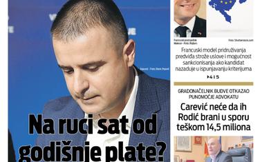 """Naslovna strana """"Vijesti"""" za 18. novembar 2019."""