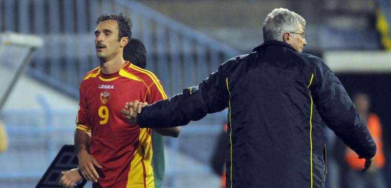 Mirko Vučinić i Zoran Filipović na meču sa Bjelorusima 2009.