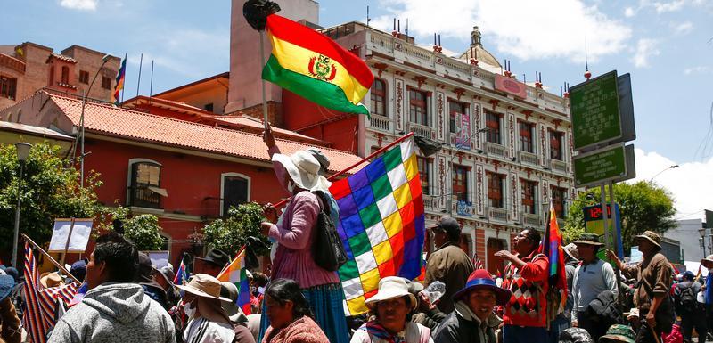 Pristalice Eva Moralesa protestuju u La Pazu