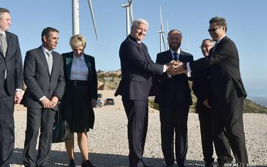 Sa svačanog puštanja u rad vjetroelektrane kod Ulcinja