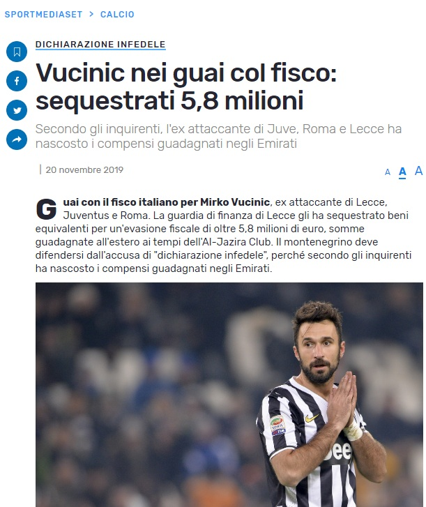 Izvještaj italijanskih medija