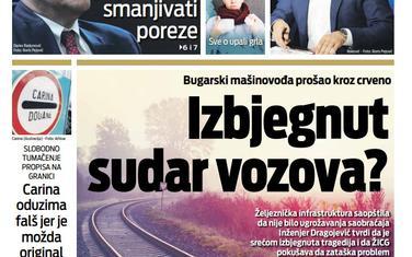 """Naslovna strana """"Vijesti"""" za 21. novembar 2019."""