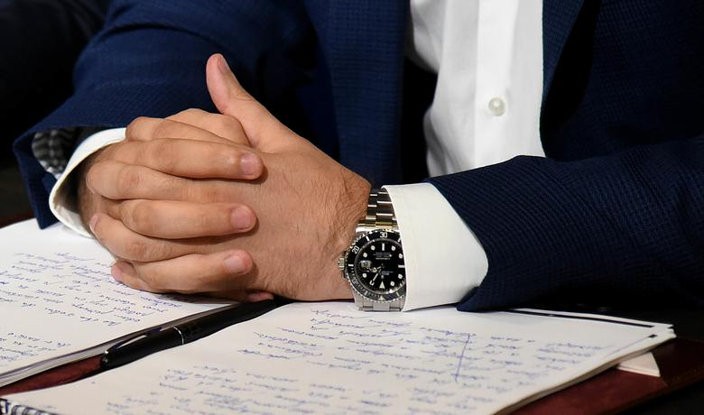 Roleks na ruci Bakovića