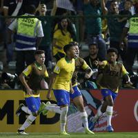 Kajo Žorže proslavlja izjednačujući gol protiv Meksika