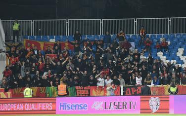 Crnogorski navijači na meču u Prištini