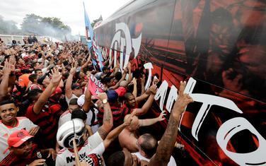 Ovako su navijači Flamenga ispratili fudbalere u Limu