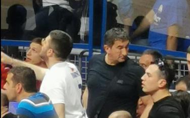 Golubović na košarkaškoj utakmici u Podgorici, u aprilu 2019. godine